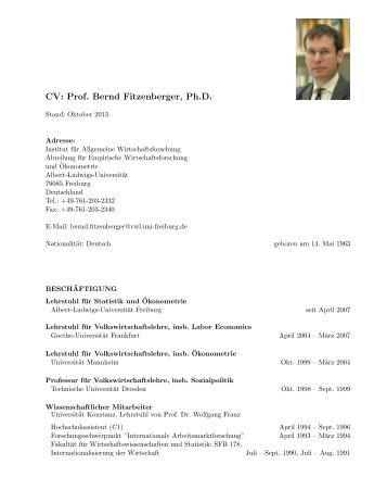 Schnellzugriff - Empirische Wirtschaftsforschung und Ökonometrie