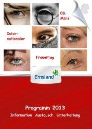 Internationaler Frauentag 2013 Endfassung - Landkreis Emsland
