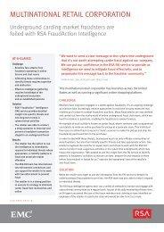 MULTINATIONAL RETAIL CORPORATION - EMC