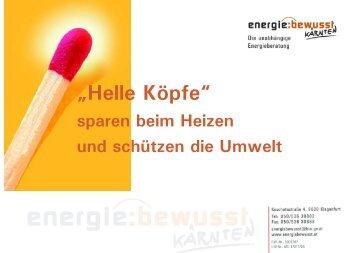 Wand-, Dach- und Deckenbauteilen - energie:bewusst Kärnten