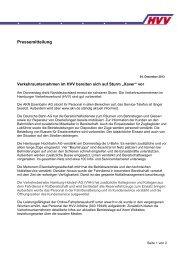 Pressemitteilung der Verkehrsunternehmen im HVV - ENERGY.de