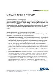 Pressemitteilung (pdf) - Engel Austria