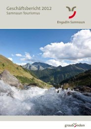 Geschäftsbericht Samnaun Tourismus 2012 - Engadin
