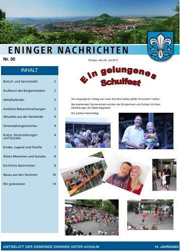 26. Juli 2013 - Gemeinde Eningen unter Achalm