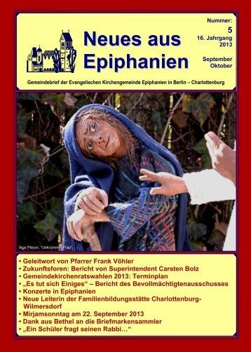 September / Oktober 2013 - Epiphanien