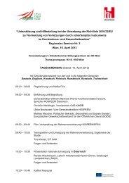 """""""Unterstützung und Hilfestellung bei der Umsetzung der ... - EPSU"""