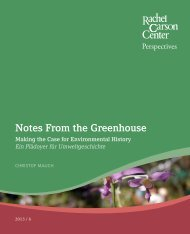 Notes From the Greenhouse - Environment and Society Portal