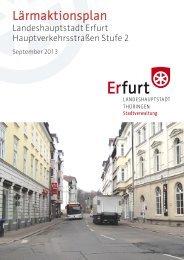 Lärmaktionsplan der Landeshauptsstadt Erfurt
