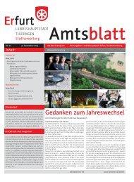 Amtsblatt Nr. 21 vom 31.12.2013 der Landeshauptstadt Erfurt ...