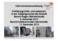 Informationsveranstaltung Einführung Liefer hrung Liefer ... - Erfurt