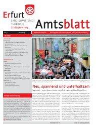 Amtsblatt Nr. 9 vom 7. Juni 2013 der Landeshauptstadt Erfurt