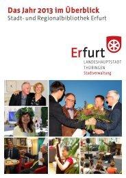 Jahresbericht 2013 – Stadt- und Regionalbibliothek Erfurt