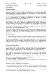 Predigt am 02.02.2014 1. Mose 8, 1-12 Pfr. Christian ... - Erlangen