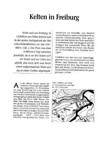 Kelten in Freiburg - www . erratiker . ch