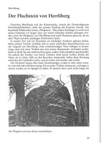 Der Fluchstein von Herrliberg - www . erratiker . ch