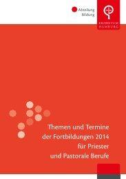 Themen und Termine der Fortbildungen 2014 für Priester und ...