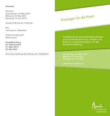 Theologie für die Praxis - Erzbistum Paderborn