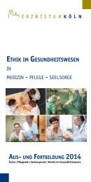 Ethik im gEsundhEitswEsEn - Erzbistum Köln