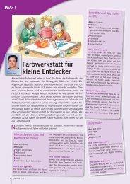 Farbwerkstatt für kleine Entdecker - ErzieherIn.de