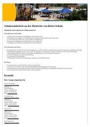 Schulsozialarbeit an der Heinrich-von-Kleist-Schule Kontakt