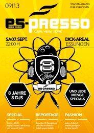 als pdf Download - es-presso Stadtmagazin Logo