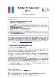 Jahresbericht der Territorialen Beschäftigungspakte in ... - ESF