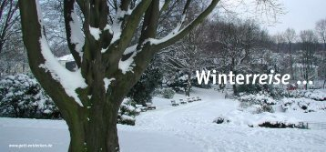 Winterreise von Franz Schubert op. 89 ... - FEG Essen Mitte