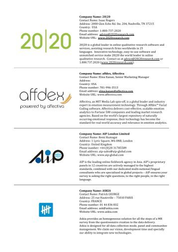 List of Exhibitors .pdf - ESOMAR