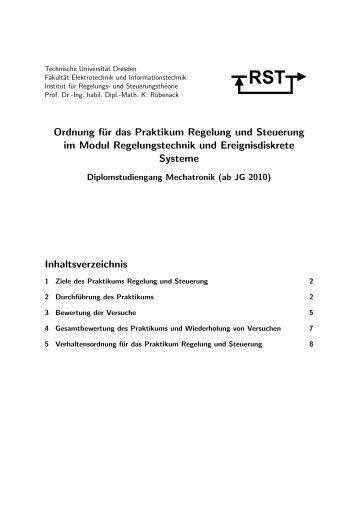 Praktikumsordnung - Fakultät Elektrotechnik und Informationstechnik