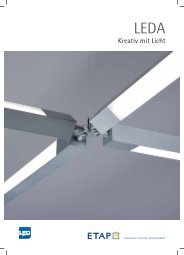 Kreativ mit Licht - ETAP Lighting