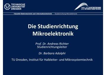 Mikroelektronik - Fakultät Elektrotechnik und Informationstechnik