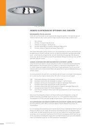 Elektrische Optionen und Zubehör - ETAP Lighting