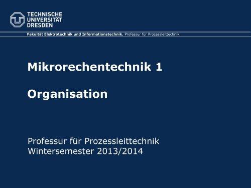 Organisation WS 2013/14 - Fakultät Elektrotechnik und ...