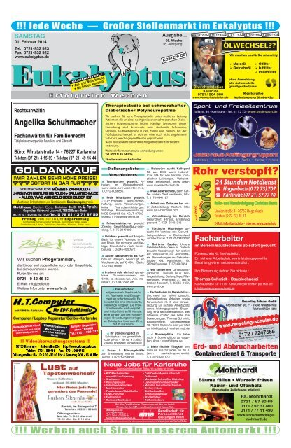 als PDF Datei herunter Eukalyptus Karlsruhe