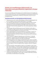 Soziale und umweltbezogene Determinanten