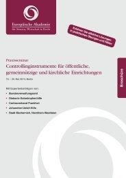 Controllinginstrumente für öffentliche, gemeinnützige und kirchliche ...