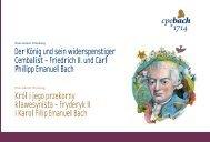 Friedrich II. und Carl Philipp Emanuel Bach Król i jego przekorny ...