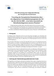 Allgemeines Umweltaktionsprogramm der EU für die Zeit ... - Europa