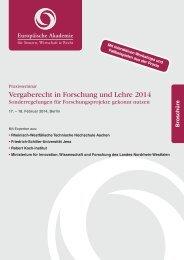 Vergaberecht in Forschung und Lehre 2014 - Europäische ...