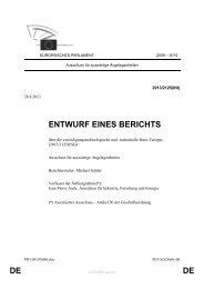 DE DE ENTWURF EINES BERICHTS - Europa