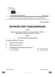 DE DE ENTWURF DER TAGESORDNUNG - Europa