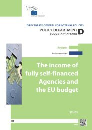 The income of fully self-financed agencies and the EU budget