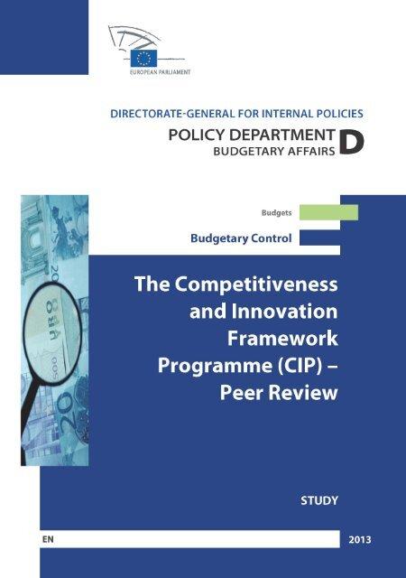 (CIP) - Peer Review - European Parliament - Europa