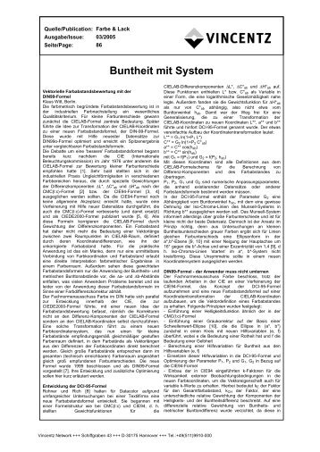 Buntheit mit System - European-coatings.com