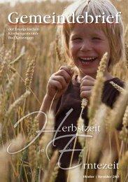 Gemeindebrief Oktober/November 2013 - Evangelische ...