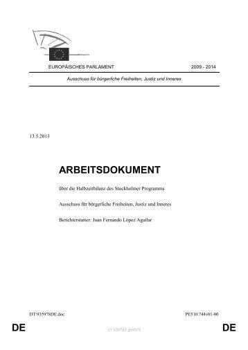 Halbzeitbilanz des Stockholm-Programms - Europa