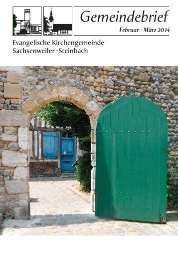 Februar - März 2014 - Evangelische Kirchengemeinde ...