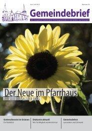 Juni / Juli 2013 - Evangelisch in Leerstetten
