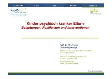 Präsentation Kinder psychisch kranker Eltern - eva