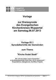 Vorlage 02-1 Synodalberichte Gemeinden - Evangelisch in Wuppertal